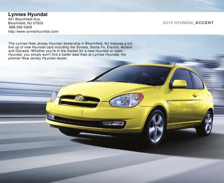 2010 Hyundai Accent Brochure Lynnes Hyundai Bloomfield Nj