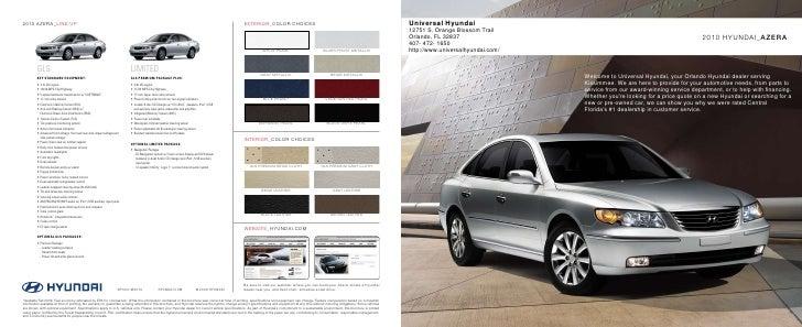 2010 Hyundai Azera Brochure Universal Hyundai Orlando FL