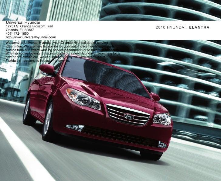 2010 Hyundai Elantra Brochure Universal Hyundai Orlando FL