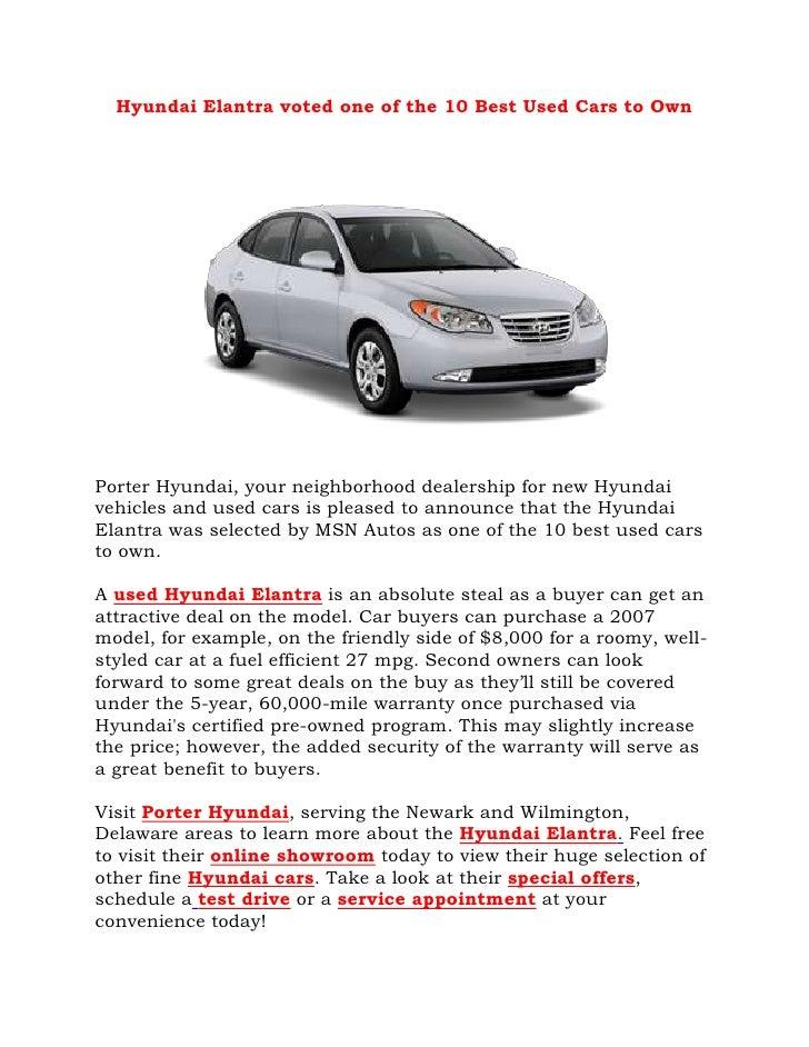 Used Cars In Delaware Hyundai