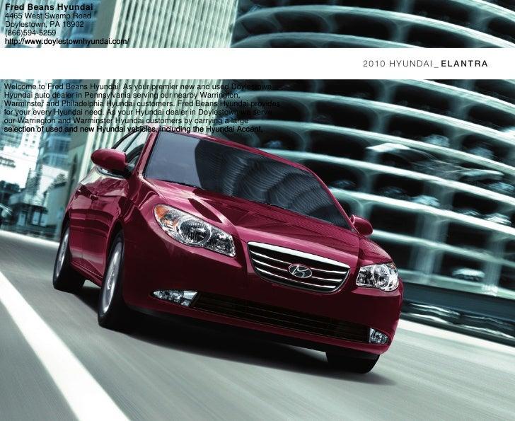 2010 Hyundai Elantra Brochure Fred Beans Hyundai ...