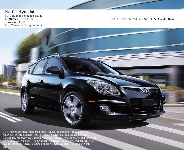 2010 Hyundai Elantra Brochure Touring Keffer Hyundai Matthews Nc