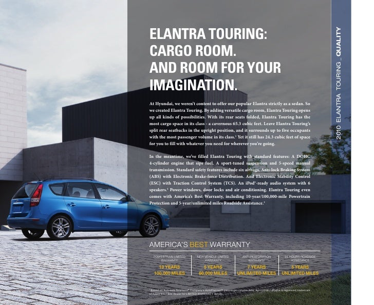 2010 Hyundai Elantra Touring Brochure Universal Hyundai Orlando FL