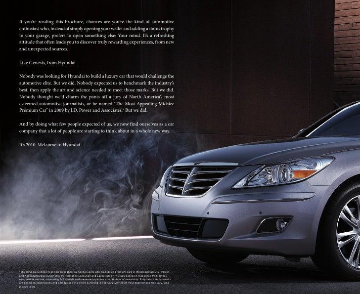 2010 Hyundai Genesis Brochure Universal Hyundai Orlando FL
