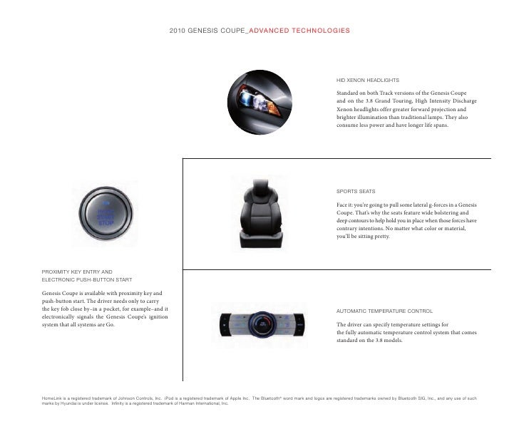 2010 Hyundai Genesis Coupe Brochure Brown´s Manassas