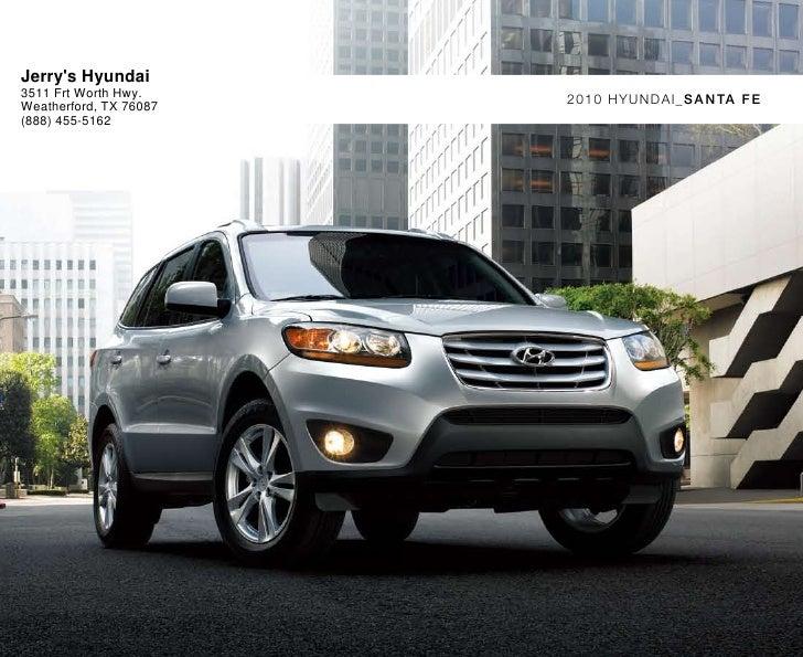 Hyundai Dealership In Fort Worth >> 2010 Hyundai Santa Fe Fort Worth