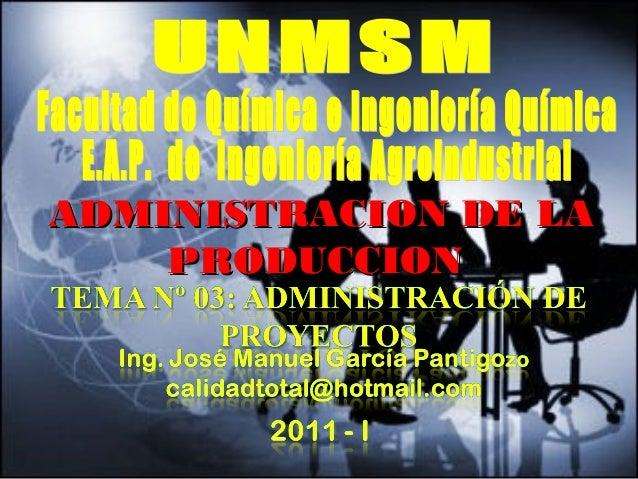 - GESTION DE OPERACIONES –ADMINISTRACION DE LAADMINISTRACION DE LAPRODUCCIONPRODUCCION