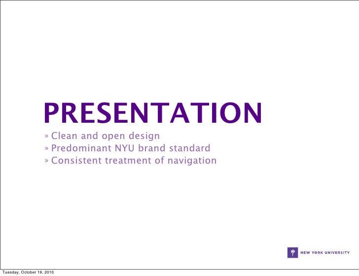 nyu:, Modern powerpoint