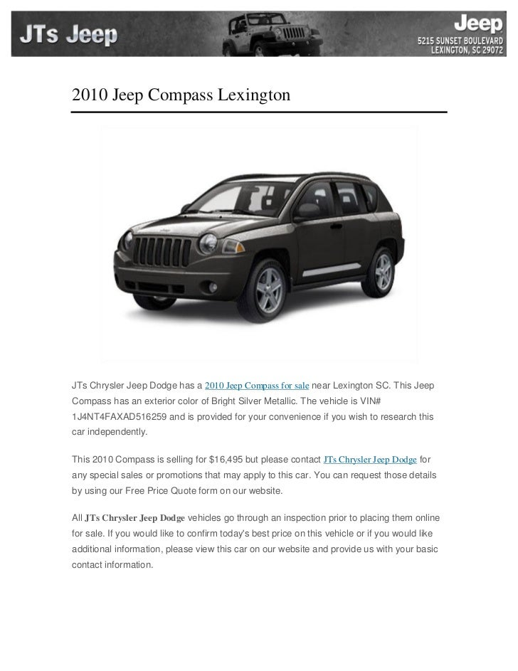 2010 jeep compass lexington