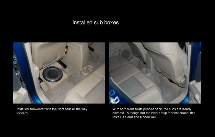 2010 jeep patriot installation with quicktime control – Jeep Subwoofer Wiring