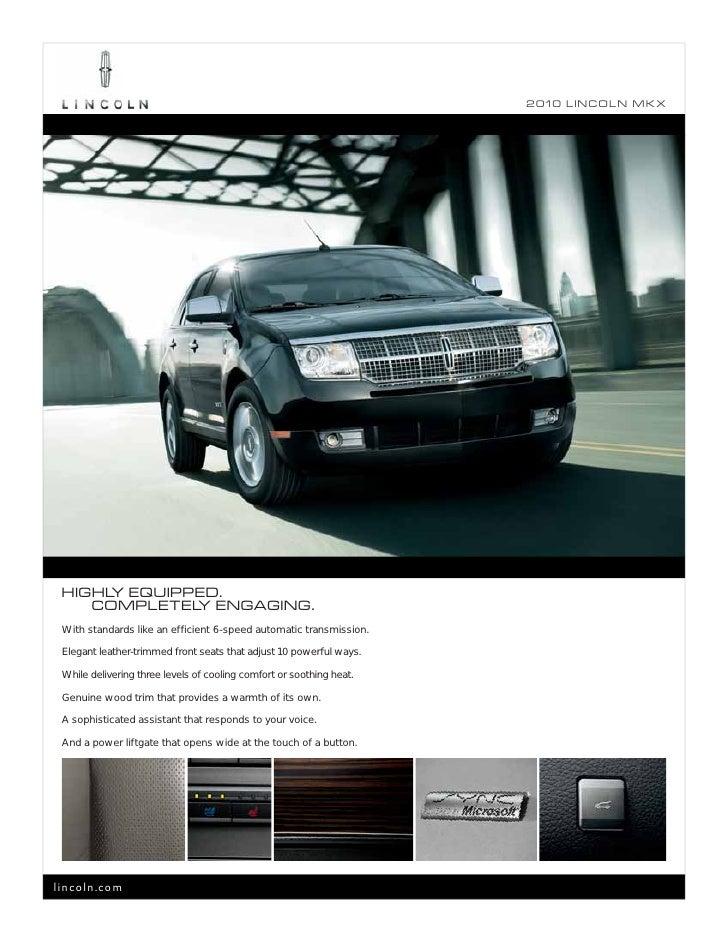 2010 lincoln mkx brochure. Black Bedroom Furniture Sets. Home Design Ideas