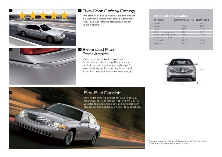 2010 Lincoln Town Car Brochure