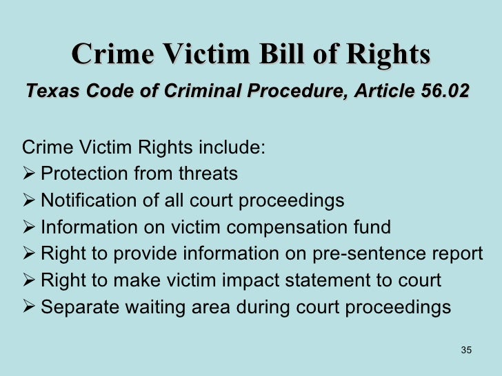 Crime victim rights