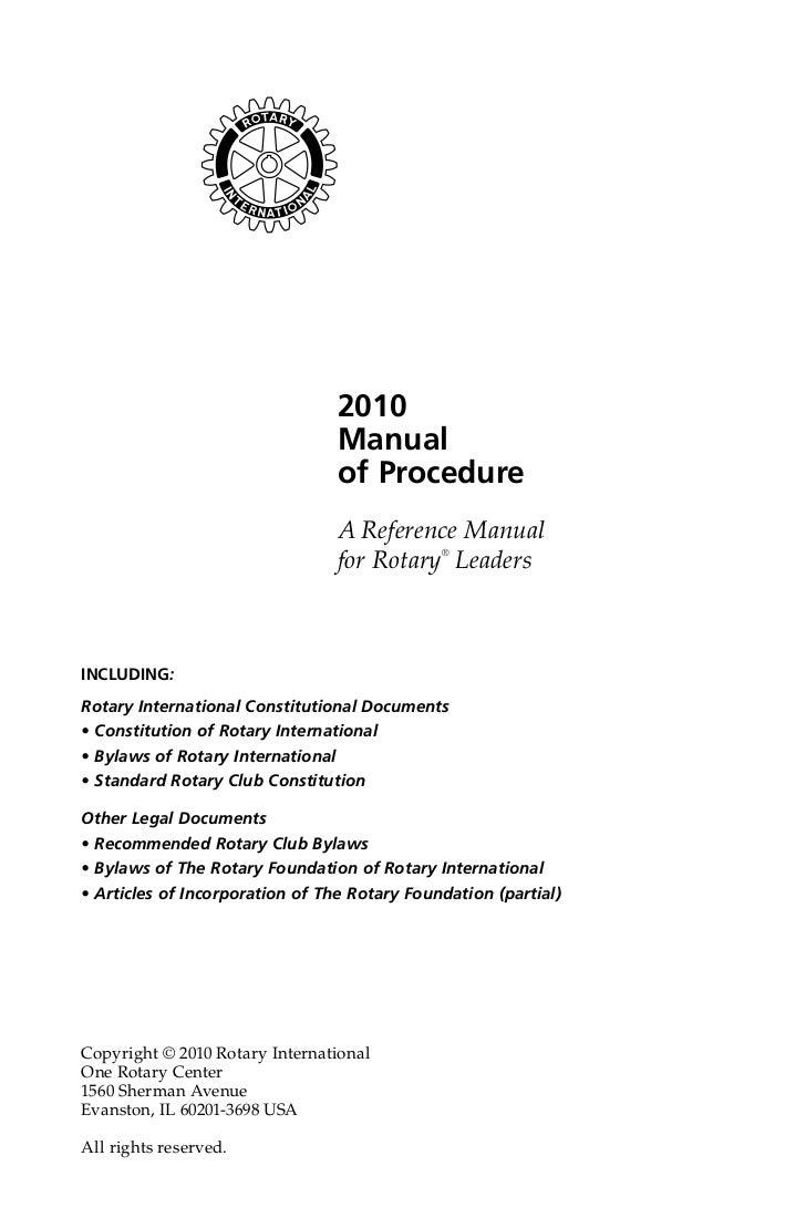 Manual of procedure.