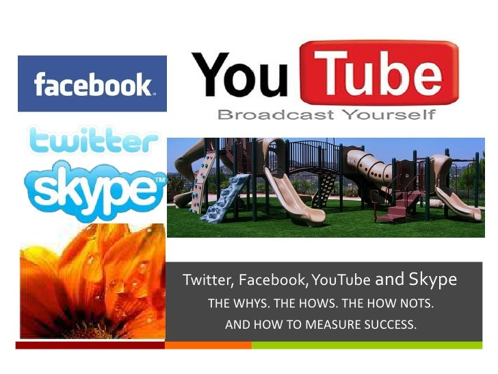 Twitter, Facebook, YouTube and Skype<br />THE WHYS. THE HOWS. THE HOW NOTS. <br />AND HOW TO MEASURE SUCCESS. <br />