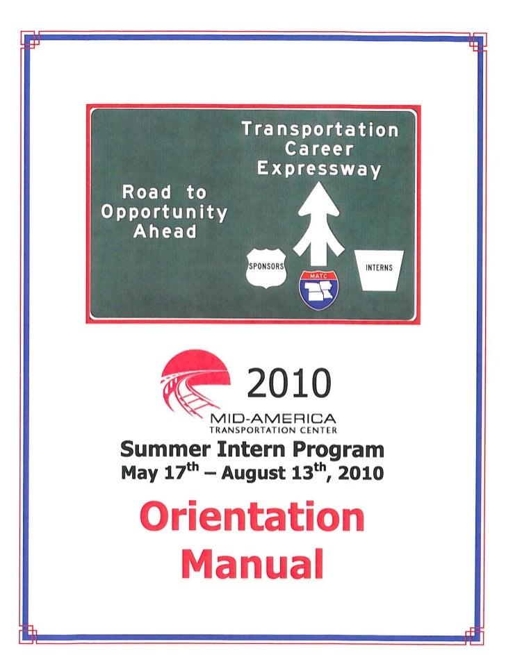 2010 matc intern orientation manual