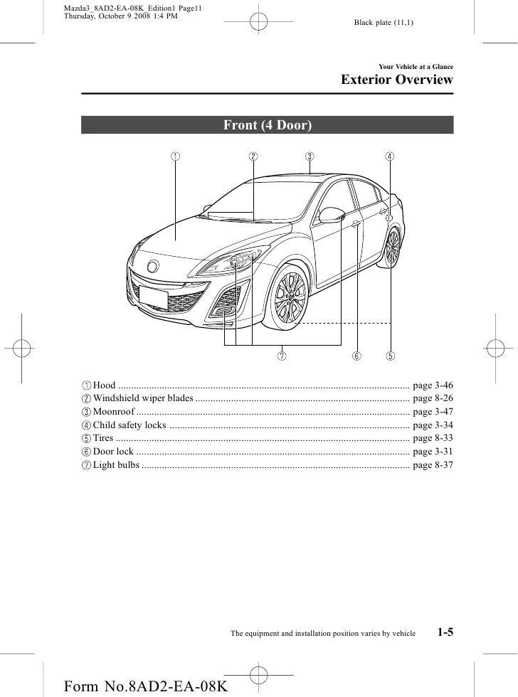 2010 Mazda Mazda3 Om. Mazda. 2010 Mazda 3 Engine Compartment Diagram At Scoala.co