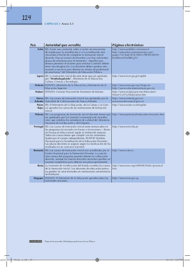 2010 mejorar escuelas estrategias méxico