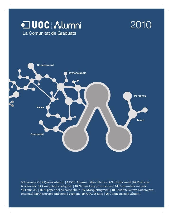2010 Revista Anual UOC Alumni
