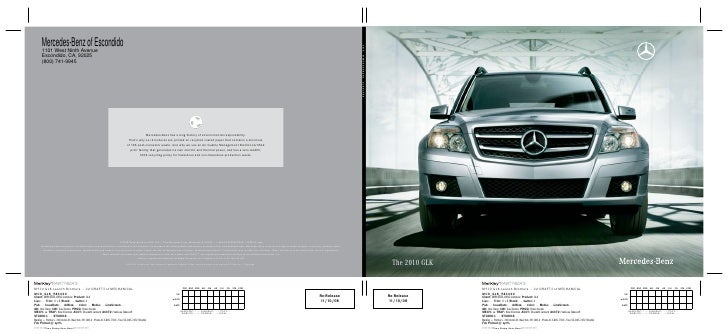 Mercedes-Benz of Escondido 1101 West Ninth Avenue Escondido, CA, 92025 (800) 741-9945                                     ...