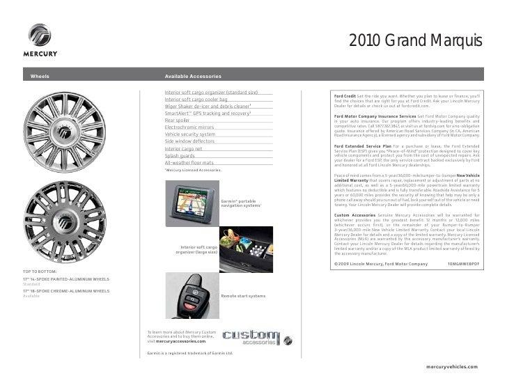 2010 Mercury Grand Marquis Brochure