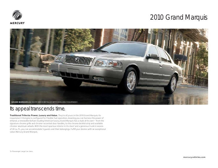 2010 Mercury Grand Marquis Pittsfield