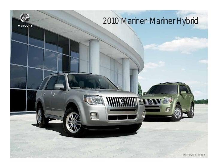 2014 Ford Escape For Sale >> 2010 Mercury Mariner Mariner Hybrid Brochure