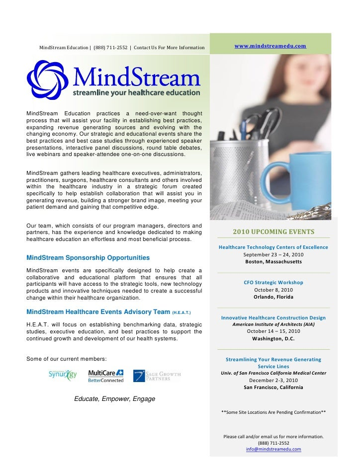 MindStream Education | (888) 711-2552 | Contact Us For More Information         www.mindstreamedu.com     MindStream Educa...