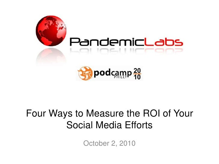 Four Ways to Measure the ROI of Your Social Media Efforts<br />October 2, 2010<br />