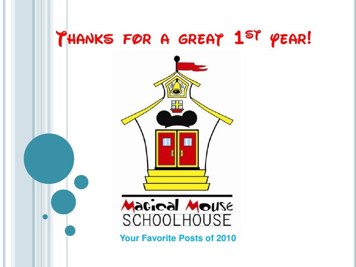 Thanks for a great 1st year!<br />Your Favorite Posts of 2010<br />