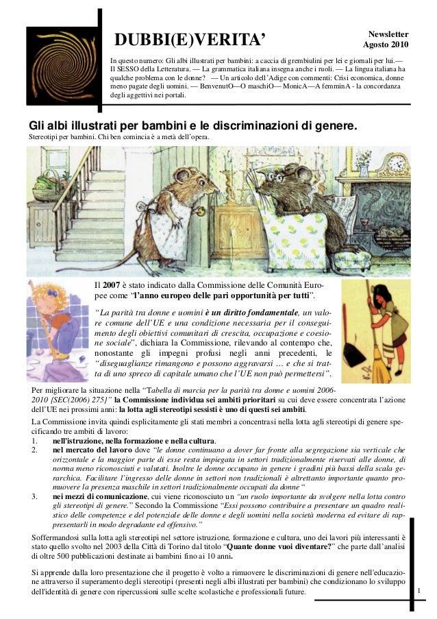 Newsletter                             DUBBI(E)VERITA'                                                                    ...