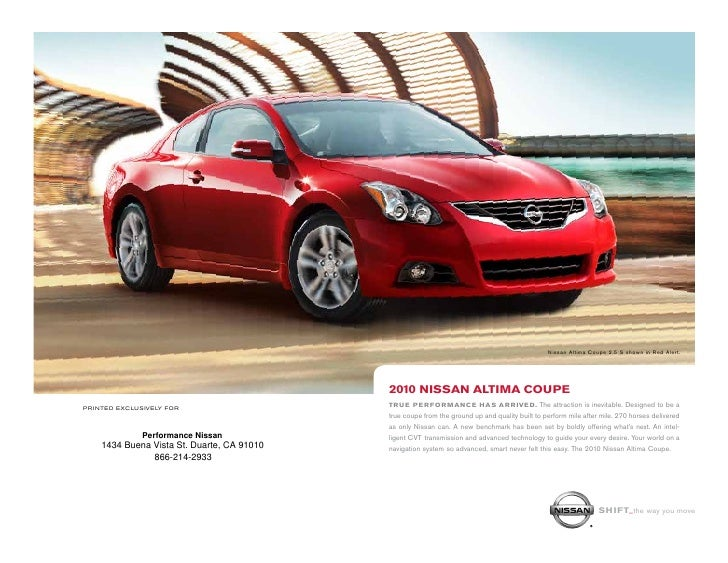 2010 Nissan Altima Coupe Los Angeles 206b135e19e