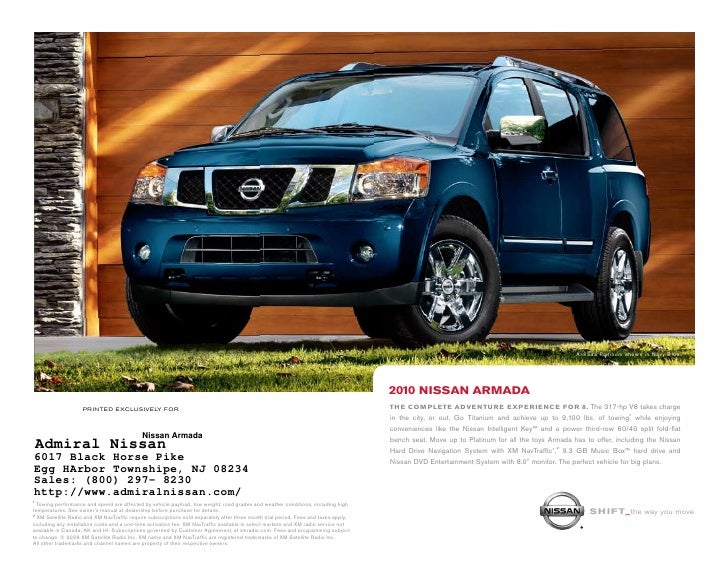 2010 nissan armada in pleasantville nj rh slideshare net 2010 Nissan Armada MPG Tuscan Sun Nissan Armada Platinum 2010