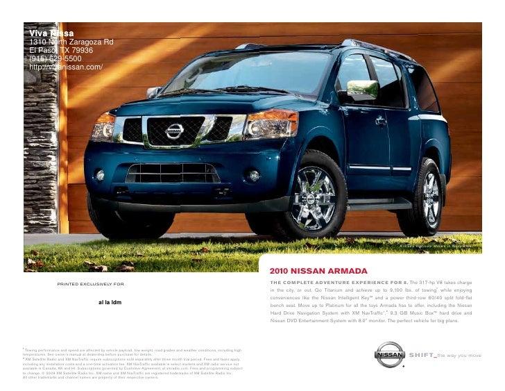 Nissan El Paso >> 2010 Nissan Armada Viva Nissan El Paso Tx