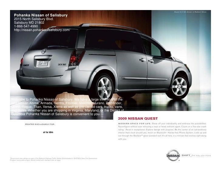 2010 Nissan Quest Pohanka Nissan Of Salisbury Md