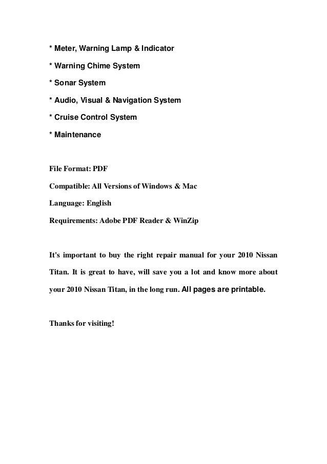 Nissan titan repair manual   ebay.
