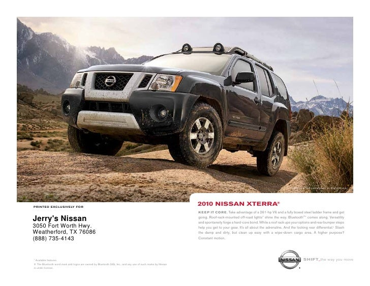 Xterra Off Road shown in Night Armor.     printed exclusively for                                                         ...