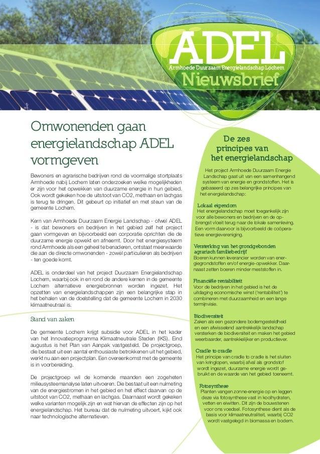 Omwonenden gaan energielandschap ADEL vormgeven Bewoners en agrarische bedrijven rond de voormalige stortplaats Armhoede n...