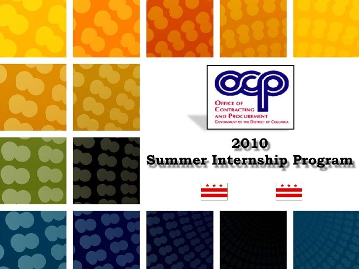 2010<br />Summer Internship Program<br />