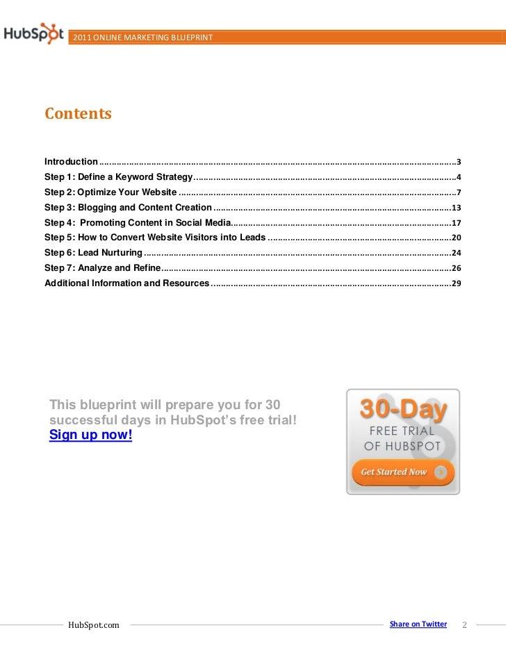 2011 Online Marketing Blueprint Slide 2