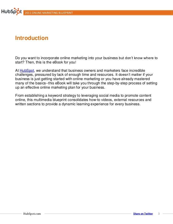 2011 Online Marketing Blueprint Slide 3