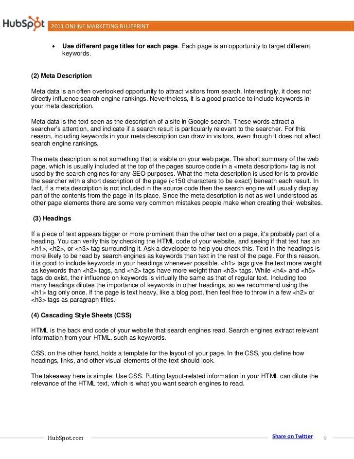 2011 online marketing blueprint hubspot share on twitter 8 9 2011 online marketing blueprint2 malvernweather Gallery