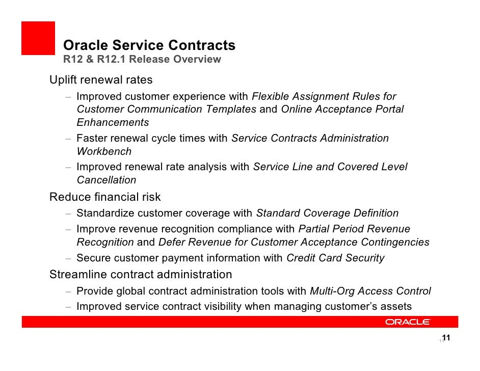 2010 Open World R12 Service Contracts