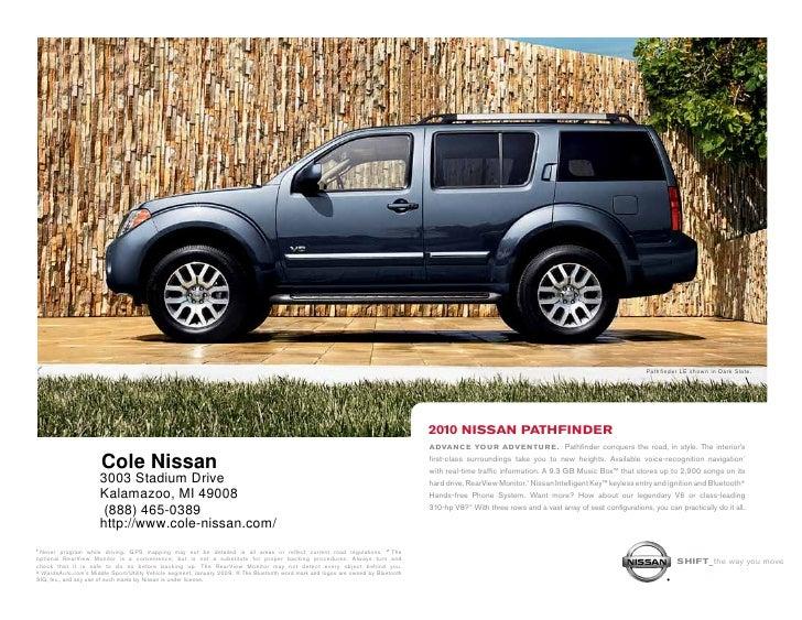 2010 Nissan Pathfinder Cole Nissan Kalamazoo MI. Pathfinder LE Shown In  Dark Slate. ...