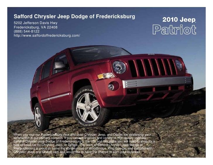 Safford Of Fredericksburg >> 2010 Safford Chrysler Jeep Dodge Of Fredericksburg Jeep