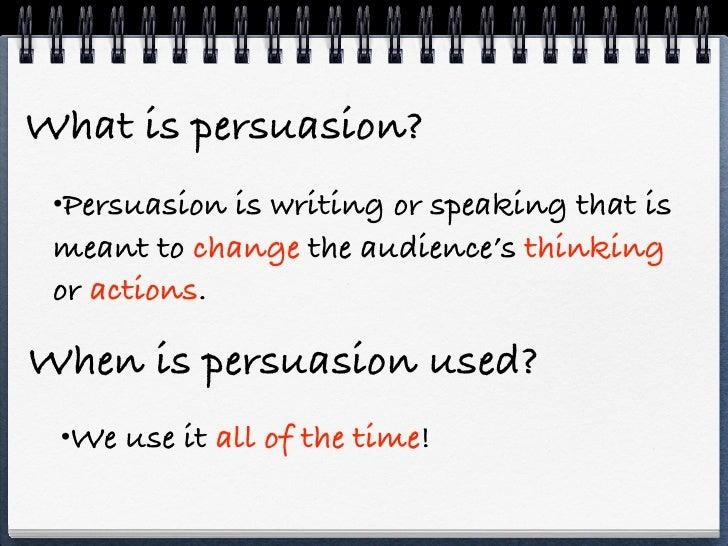persuasive writing notes