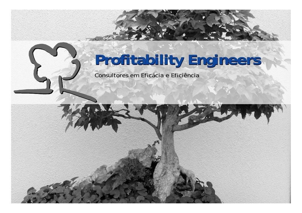 Profitability Engineers                             Consultores em Eficácia e Eficiência     © Profitability Engineers    ...