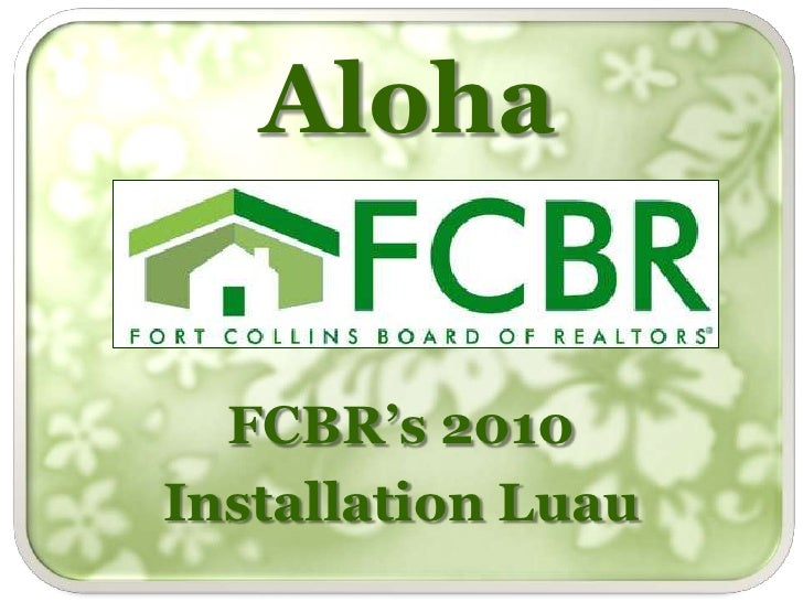 Aloha<br />FCBR's 2010 <br />Installation Luau<br />