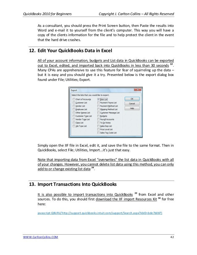 Quick Books For Beginners Manual As Of April A - How to import invoices into quickbooks from excel soccer store online