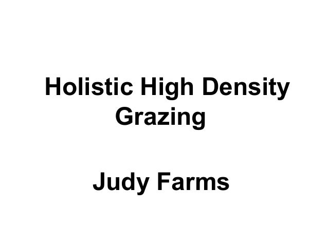 Holistic High Density Grazing Judy Farms